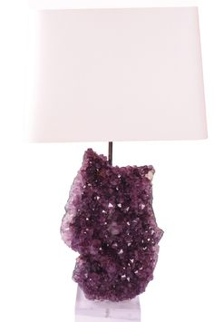 Amethyst Lamp - Large, available at www.handcutdesign.com. Chandelier Lighting, Chandeliers, Apt Ideas, Types Of Lighting, Innovation Design, Home Accents, Home Goods, Living Spaces, Amethyst