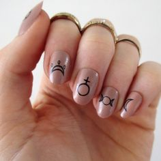 Witch nail decals