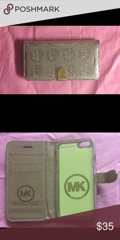 MK Metallic Gold Book Style IPhone 6 Plus Case MK Metallic Gold Book  Style IPhone 6 Plus Case, without strap Accessories Phone Cases