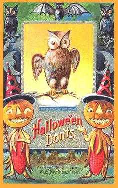 postcard.quenalbertini: Vintage Halloween Card