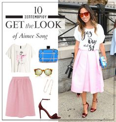 Get the look: Το μοντέρνο mix and match look της Aimee Song