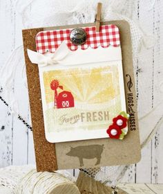 On The Farm Revisited: Hogs & Kisses Card by Melissa Phillips for Papertrey Ink (July 2014)