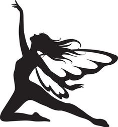 Fairy Silhouette Clip Art | Fairy Clipart Image: The Silhouette Of A Fairy