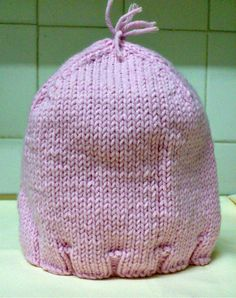 Pink Knit Baby Hat by NiftyNadi on Etsy Baby Hats Knitting, Knit Hats, Nifty, Happiness, Trending Outfits, Unique Jewelry, Handmade Gifts, Crochet, Pink
