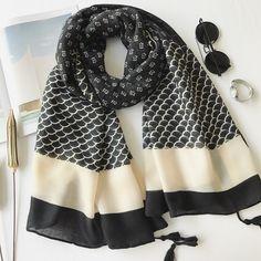 >> Click to Buy << Women's Fashion Black Beige Floral Tassel Viscose Shawl Scarf Travel Seaside Holiday Sunscreen Scarves Muslim Hijab Echarpes #Affiliate