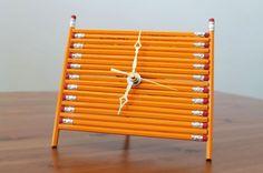 DIY Pencil Clock | 30 Wall Clocks