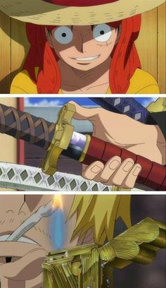 One Piece_ Luffy, Zoro y Sanji