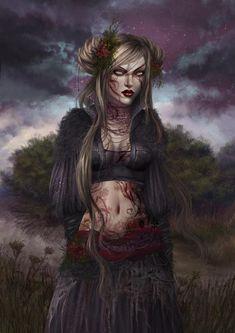 Fantasy Images, Fantasy Women, Fantasy Artwork, Dark Fantasy, Fantasy Art Warrior, Character Art, Character Design, Pop Culture Art, Girl Cartoon
