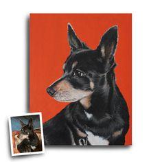 11x14 custom Chihuahua portrait personalized by SwishAndWag