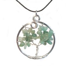 Green Aventurine Tree of Life Pendant by SweetfireCreations Tree Of Life Pendant, Green Aventurine, Make You Smile, Etsy Shop, Pendant Necklace, Trending Outfits, Unique Jewelry, Handmade Gifts, Blog