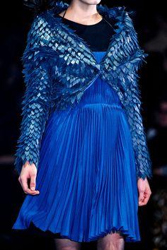 ♥ the #blues. John Galliano Ready-To-Wear Fall/Winter 2012 show - Paris Fashion Week at Espace Ephemere Tuileries on March 4, 2012 in Paris, France. #runway #fashionweek #fall2012 #blue