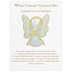 Yellow Awareness Ribbon Bone Cancer Angel Blanket