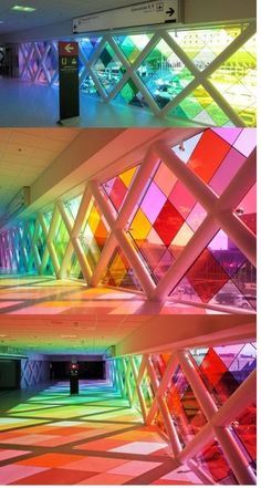 Fabulous use of colour -idea could be replicated on a trade show stand using coloured acrylic