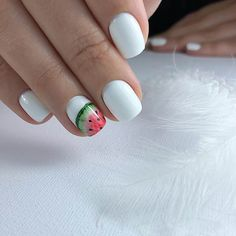 Beautiful nails, Drawings on nails, Nail designs for short nails, Nails trends Picture on … White Nail Designs, Best Nail Art Designs, Short Nail Designs, White Nail Polish, White Nails, Gel Polish, Nails For Kids, Fun Nails, Nail Drawing