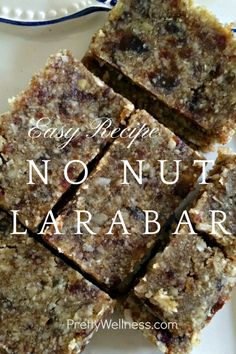 Caryn Sullivan of PrettyWellness.com and The Huffington Post shares her easy recipe for no-nut granola bars aka Larabars.