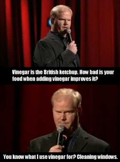 Jim Gaffigan on British food…