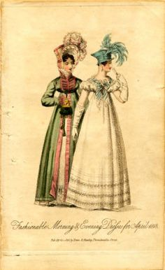 Morning and evening dresses, Spring 1818 :: Fashion Plate Collection, 19th Century