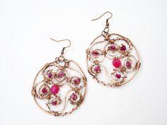 Unique earrings women earrings gift copper by MargoHandmadeJewelry