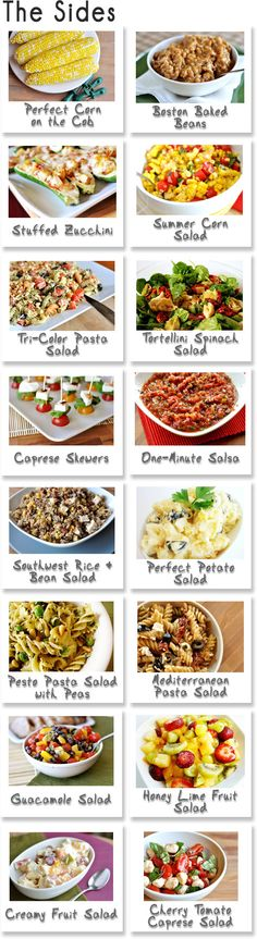 Summer BBQ side dishes -- i am going to make all of these once we get settled in the new apt. woo food!