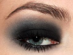 Really dark smokey eye