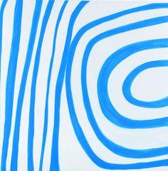 Angela Brennan  Space Blue, 2005  oil on linen  180 × 180cm