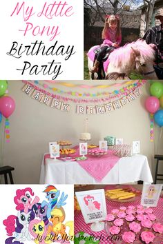 My Little Pony Birthday Party! How cute!