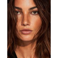 Telva Magazine June 2017 Lily Aldridge by Tomas de la Fuente ❤ liked on Polyvore featuring faces, models, people and women