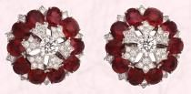 These Carmago earrings are from Van Cleef & Arpels Ballet Précieux - they have diamonds and 20 oval-cut Burmese rubies – 23.27 cts.