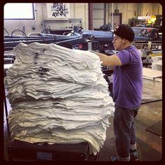 Slayin stacks today #streetart #streetwear #screenprint #superiorink #superiorinkprinting #clothing #clothing