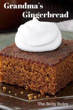 Take a bite of Christmas with this Easy Gingerbread Cake. It's a small homemade cake with the best gingerbread flavor. Leave plain or top with frosting. Baking Recipes, My Recipes, Dessert Recipes, Crazy Cake Recipes, Cookie Recipes, Recipies, Holiday Baking, Christmas Baking, Italian Christmas