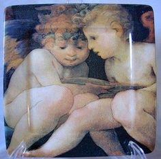 Cherub Angel Babies Square Italy Plate Tile
