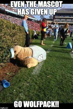 That moment when we were CRUSHING Carolina.... #GoPack #NCSU #wolfpacknation