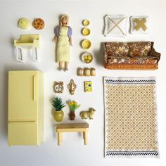 Yellow and golden tones ... Lundby style (image: @littlefishcreationsaus) https://lundby.com.au/