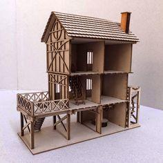 1/48th Tudor Mill Kit with rear panels removed for internal access. http://barnardbuilt.blogspot.com.au