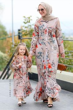 Little Nina Dress graduation style dresses Little Nina Dress Mother Daughter Matching Outfits, Mother Daughter Fashion, Abaya Fashion, Muslim Fashion, Fashion Outfits, Fashion Kids, Dress Fashion, Modest Dresses, Girls Dresses