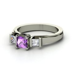 I love this ring. It's perfect, both my husband and my birthday is in February and we were married in February.