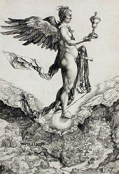 Némesis, Gran Fortuna (1501-1502). Alberto Durero
