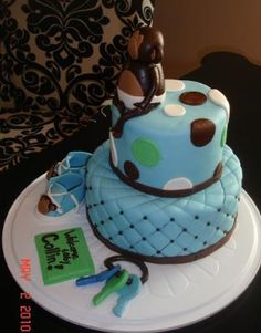 Baby Monkey Cake: I am in LOVE with this adorable cake sent in by Andrea. It is beautiful! The marshmallow fondant gives the whole cake a softer look (and it is quite tasty