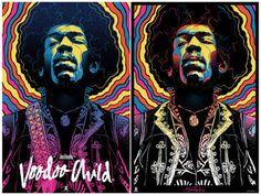 """Jimi Hendrix, Voodoo Child"" Screen Print by Gabz x Dark Hall Mansion"
