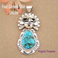Four Corners USA Online - Kingman Turquoise Sun Kachina Pendant Navajo Artisan Freddy Charley NAP-1533, $515.00 (http://stores.fourcornersusaonline.com/kingman-turquoise-sun-kachina-pendant-navajo-artisan-freddy-charley-nap-1533/)