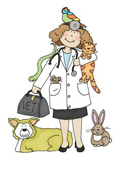 Free Dearie Dolls Digi Stamps: As requested....Veterinarian