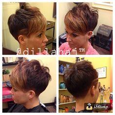 Fun!! Thanks Sheree!! #hair #haircut #haircolor #hairstyle #hairstylist #shorthair #shorthaircut #shorthairstyle #redken #barber #fade #taper #chickfade #pixie #pixiehaircut #nothingbutpixies #thisismyart