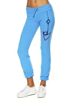 Peace Love World I Am Hooked On Love Sea Blue Pants