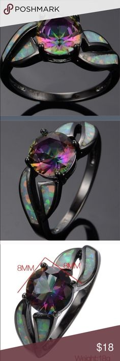 Mystic Rainbow Topaz/Fire Opal Ring BGF FIRM PRICE This ring is so pretty and back in stock in 2 sizes. Great for gifts for you or others They are NWT Jewelry Rings