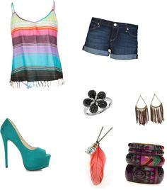 """summer time fun"" by ethorsegirl on Polyvore"