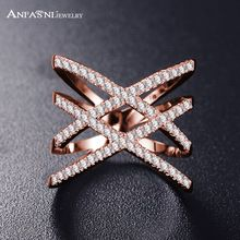 Fashion Rings for Women Double Letter X