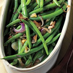 Citrus Green Beans with Pine Nuts | MyRecipes.com