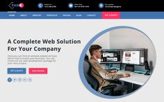 PAMR – IT Company One Page PSD Template All Website, First Page, Psd Templates, Web Development