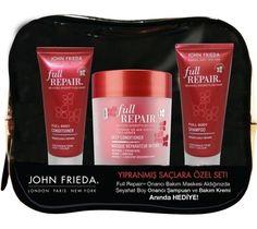 John Frieda Full Repair Yıpranmış Saçlara Özel Seti Kofre hakkında kapsamlı bilgilere bu sayfadan ulaşarak bilgi sahibi olabilirsiniz.