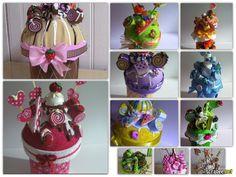 Varios botes de dulces